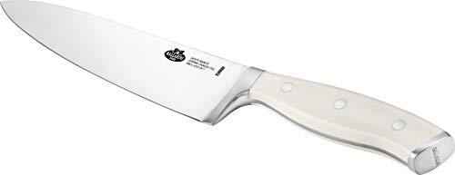BALLARINI Couteau de Chef, Lame 20 cm, Acier Inoxydable, Manche Blanc Ivoire, série Savuto