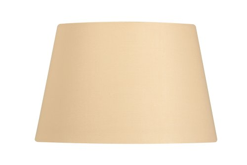 Oaks Lighting - Pantalla cilíndrica para lámpara (algodón, 30,5 cm), color beige