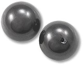 Swarovski Crystal Pearls 5818 6mm Half Drilled Black (Package of 2)