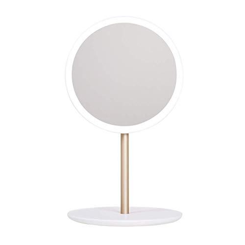 QTMHT LED Make-up Spiegel Compact Opvouwbare Vanity en Reizen Spiegel LED Verlichte Dubbelzijdige Cosmetische Spiegel Badkamer