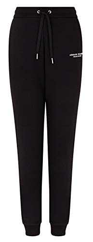 Armani Exchange Sweatpants Pantalones de chándal, Black, S para Mujer