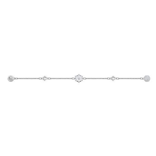 Swarovski Remix Collection Strand Snowflake, Bianco, Placcatura Rodio