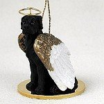 Great Dane Black w/Uncropped Ears Pet Angel Ornament by Conversation Concepts