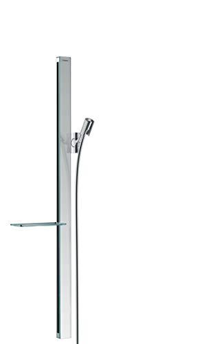 Price comparison product image hansgrohe 27640000 Unica E Rail 90 cm with Shower Hose Set,  Chrome,  0.90 m