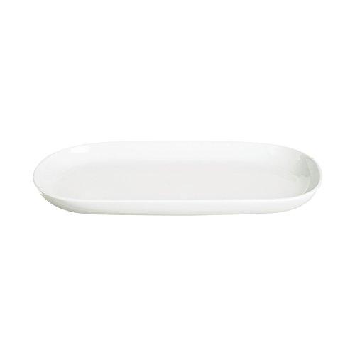 Plat de Service Domestique d'Excèlsa, Blanc, Ovale, 23,2 x 12 cm