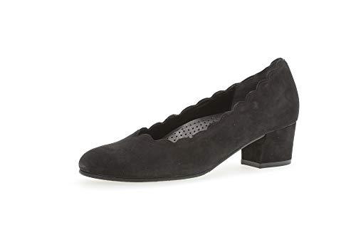 Gabor Damen Pumps, Frauen Klassische Pumps,Comfort-Mehrweite, Court-Shoes Absatzschuhe Abendschuhe stöckelschuhe Damen,schwarz (A.OBL),40.5 EU / 7 UK