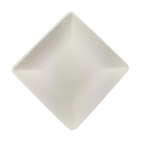 50 mini platos desechables de 6,5 cm para aperitivos, biodegradables, mini vinagre de salsa de soja