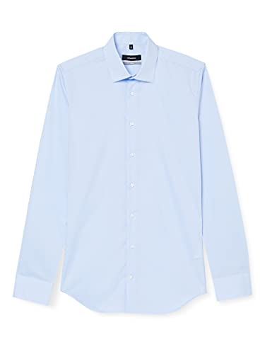 Seidensticker Herren Business Bügelfreies Hemd mit sehr schmalem Schnitt - X-Slim Fit, Blau (Blau 12), 41