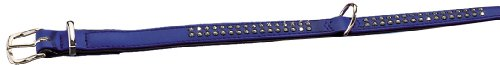 "Nobby Halsband ""Crystal"" einreihig dunkelblau / schwarz 37 cm (27-32 cm); 12/14 mm"