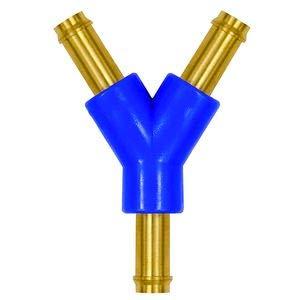 Tuyau de raccordement en Y pour tuyau LW 3 mm, plage de température -10 °C à 60 °C, laiton et POM