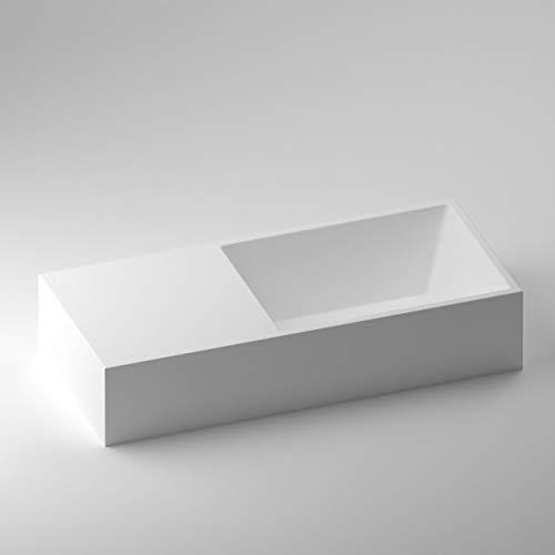 SCHWAN SPA Design Aufsatzwaschbecken   Waschbecken   Waschschale   Mineralguss/Gussmarmor   Barcelona   Matt Weiß   500 x 222 x 102mm