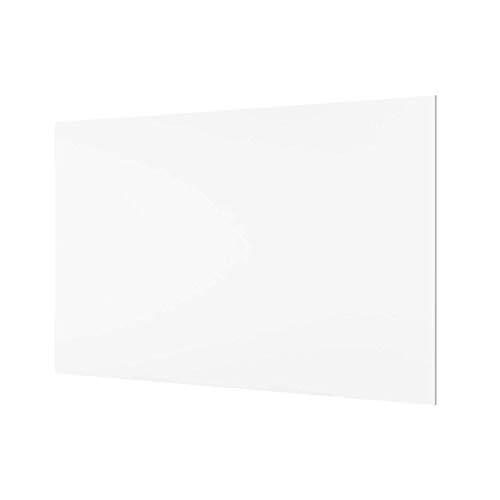 School-Maxx Spritzschutz aus Glas, ca. 400 x 600 x 4 mm, Farbe: weiß/Frosted