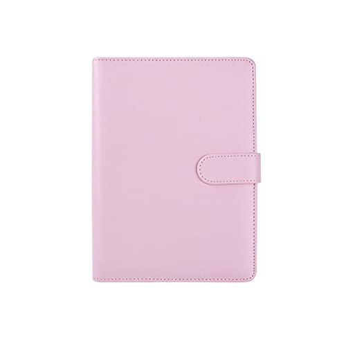 BAIYAN バインダー A5 6穴 ルーズリーフ式 メモ帳 手帳 ビジネスオフィス用品 ポケット付き ピンク