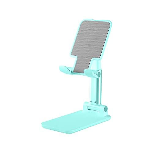 EUROXANTY Soporte para Móvil de Mesa Extensible   Soporte Móvil Escritorio   Base Resistente y Estable   Almohadilla Antideslizante   Color Turquesa