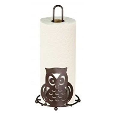 Home Basics Owl Paper Towel Holder (Bronze)
