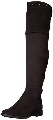 XOXO Women's Travis Over The Knee Boot, Black, 7 M US