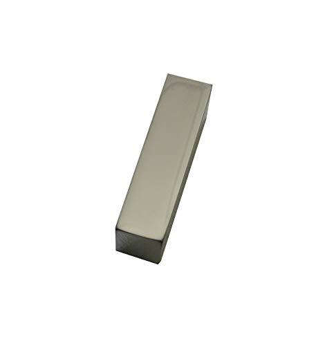 Gardinia Endstück Rechteck, 2 x Endkappe, Aluminium, chrom, für Aluminiumprofil mit Innenlauf Luxor rechteckig, Zutreffend, 2