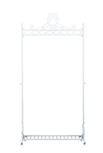 NEUN WELTEN Kleiderständer Vintage Design Kleiderstange aus Metall Garderobenständer (Weiß)