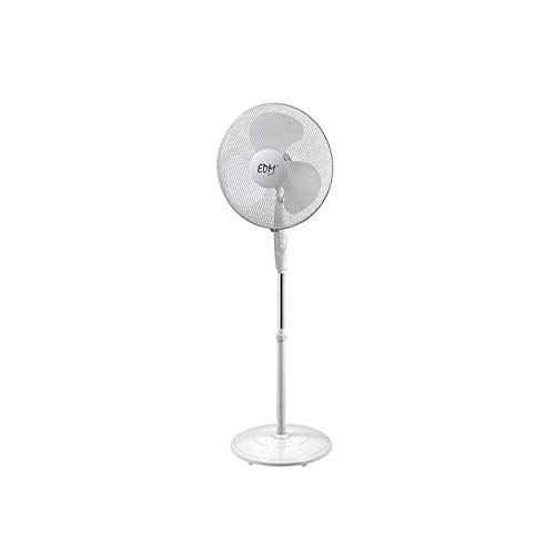 VENTILADOR DE PIE EDM 55 W 40 cm, Color Blanco