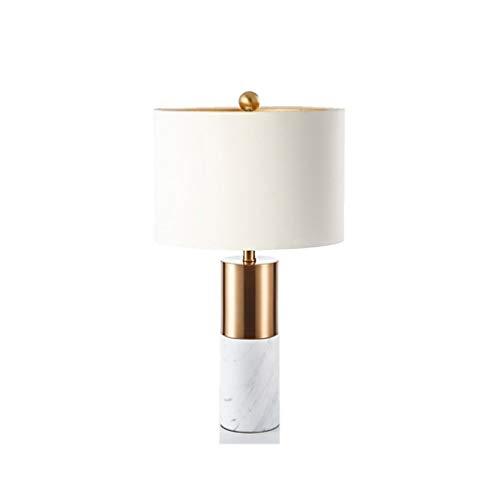 XILIN-1987 Lámparas de Escritorio Lámpara de Mesa de mármol Blanca Minimalista China Dormitorio en casa Sala de Estar Estudio lámpara de Mesa lámpara de Mesa Lámpara de Mesa para niños (Color : A)
