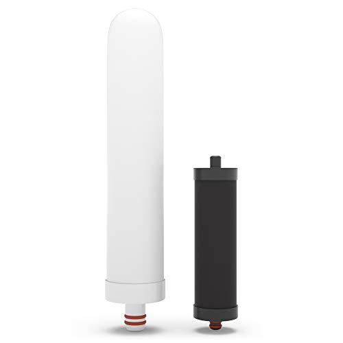 PH007 Cartucho de recarga del filtro de grifo - Para pH REGENERAR Purificador de filtro de agua alcalina del grifo - Aumenta el pH y -ORP, elimina el cloro, la cal y los metales pesados