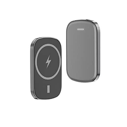 Cargador inalámbrico portátil Mini Power Bank para Magsafe 15W Carga inalámbrica PD 20W Power Bank 10000mAh para teléfonos móviles de la Serie de Apple 12 (Color : Gray, Size : 10000mAh)