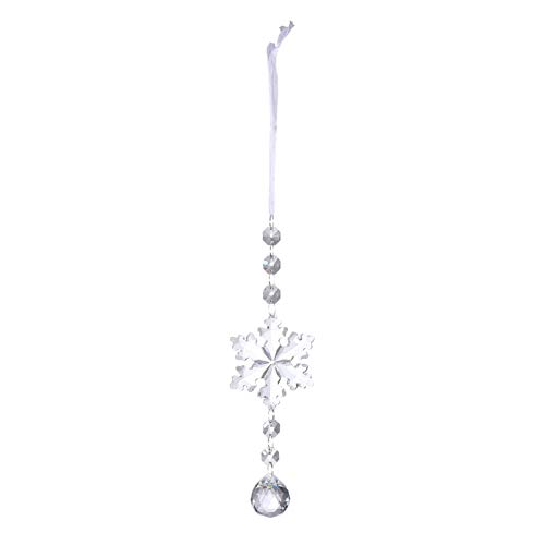 Tomaibaby Atrapasol de Cristal Navideño Copos de Nieve de Cristal Cristales Colgantes Colgantes en Forma de Lágrima para La Decoración del Árbol de Navidad de La Puerta de La Ventana de