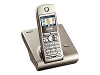 Siemens Gigaset S440 - Teléfono inalámbrico DECT, manos libres, pantalla a color, elección de voz y opciones de PC, color plateado