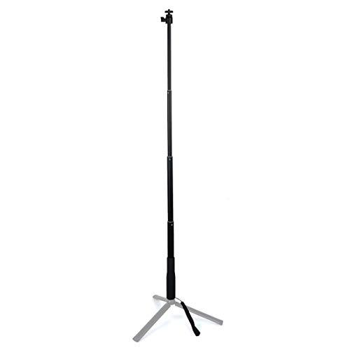 RUNNA Handheld Gimbal Aluminium Alloy Verlängerungsstange Tube Selfie Stick mit Kugelkopf, Länge: 30-90cm Dauerhaft (Farbe : Black)