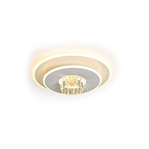 Moderno Minimalista Moda nórdica Personalidad Lámparas y linternas Instalación empotrada Ajuste de luz de tres colores LED Sala de estar Dormitorio Hotel Restaurante Lámpara de techo de cristal