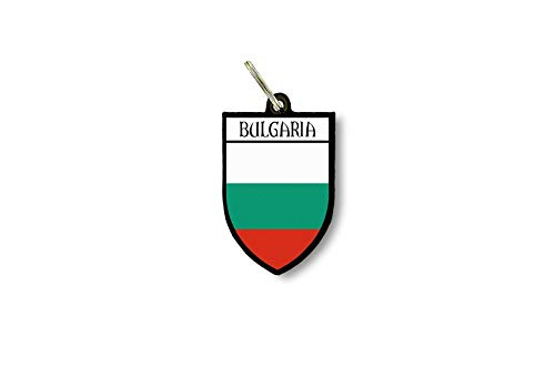 Schlüsselanhänger Schlüsselanhänger Ring Flagge Nationalflagge Souvenir Schild Bulgarien