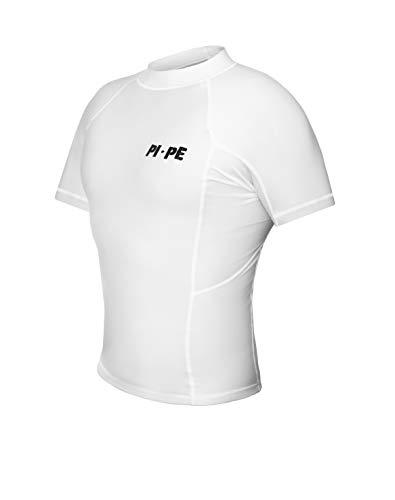 PI-PE Rash Guard Herren S/S Short Sleeve White XL