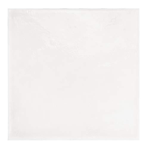 Nais Baldosas cerámicas para paredes Colección Habitat (20x20 cm) - Caja de 1 m2 (25 pzas), Antique White