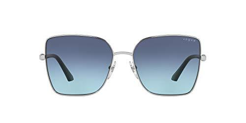 Vogue Eyewear Gafas de sol de mariposa Vo4199s para mujer, Silver/Azure/Dark Blue Gradient,