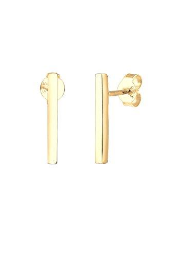 Elli - Aretes Geométricos Minimalista en plata de ley 925 y bañado en oro