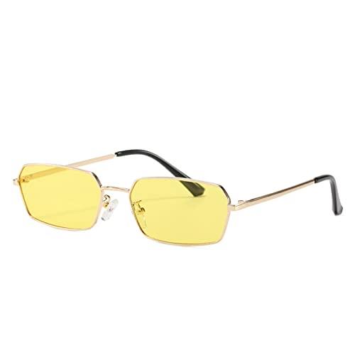 LUOXUEFEI Gafas De Sol Gafas De Sol Cuadradas Viajes Gafas De Sol Rectangulares Pequeñas Hombres Mujeres