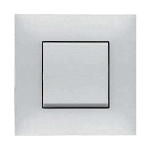 Placa embellecedora de 4 elementos, modelo Valena Next, color aluminio y cromo, 5 x 29,4 x 9 centímetros (referencia: Legrand 741044)