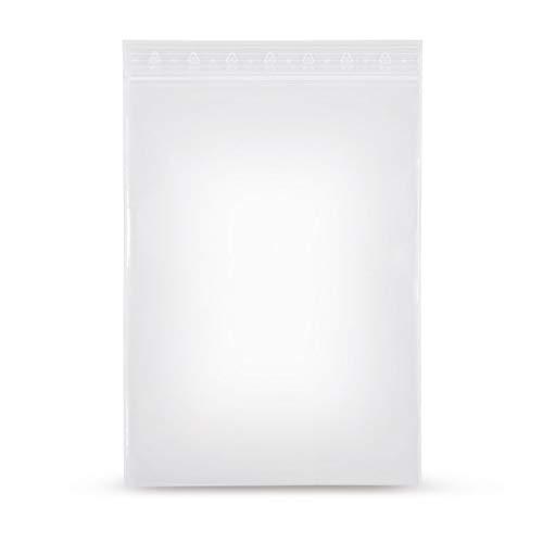 elke-plastic LPDE Druckverschlussbeutel 50mµ I wiederverschließbare Beutel I ZIP Beutel I Gleitverschlussbeutel I Schnellverschlussbeutel I Mini Ziplock Bags (300x400 100 Stück)