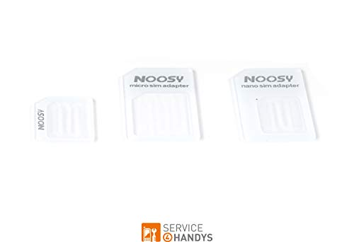 Premium SIM-Karten Adapter 3er Set - Nano SIM-Karten vergrößern auf Micro-SIM und SIM - Inklusive Nadel für Ihr Handy