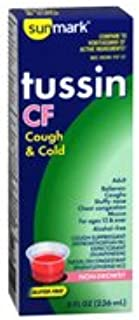 Sunmark Tussin CF Cough & Cold Liquid - 4 oz, Pack of 4