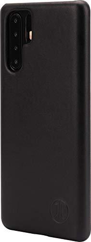 Preisvergleich Produktbild JT Berlin Echtleder Hardcover für das Huawei P30 Pro in schwarz [Qi kompatible Hülle,  Handmade] - 10464