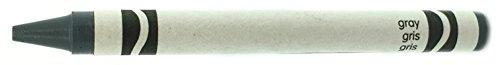 """50 Gray Crayons Bulk - Single Color Crayon Refill - Regular Size 5/16"""" x 3-5/8"""""""