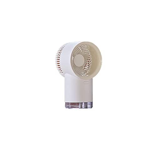 Ventilador de Escritorio Ventilador operado por batería 3 Velocidad Fuerte Viento silencioss y diseño de tragamonedas Estrecho para la activitie al Aire Libre Ventilador de Niebla (Color : White)