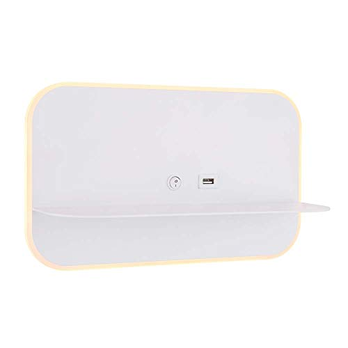 Lámpara LED de pared, iluminación USB, interruptor, dormitorio
