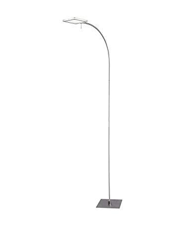 WOFI Stehlampe LED Laurids nickelgrau