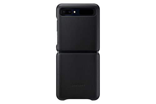 Samsung Leather Cover (EF-VF700) für Galaxy Z Flip, Black