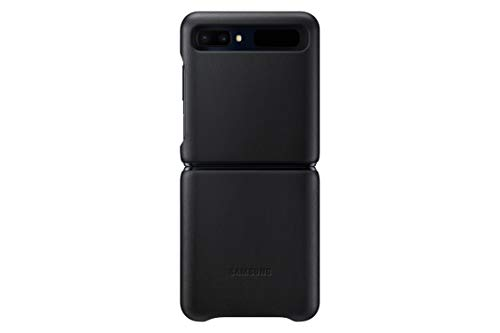 Samsung Leather Cover (EF-VF700) für Galaxy Z Flip, Black