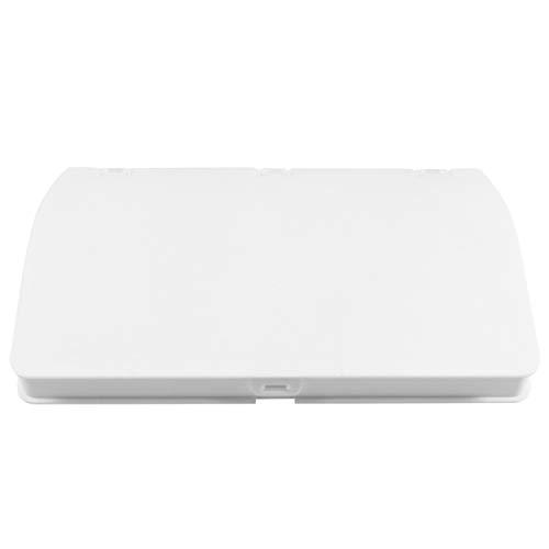 KESYOO Bouche Face Cover Box En Plastique Portable Étui De Rangement Pliant Étanche À La Poussière Boîte Bouche Muffle Holder Conteneur (Blanc)