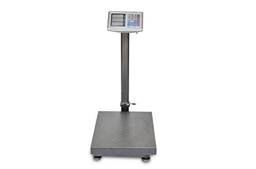 AgoraDirect - Báscula Industrial 300kg/50g, Pantalla LCD Digital, Plegable, Balanza De Plataforma Reforzada 40x50cm, Acero Tratada Térmicamente, Báscula De Paquetes Postales Para Pesaje