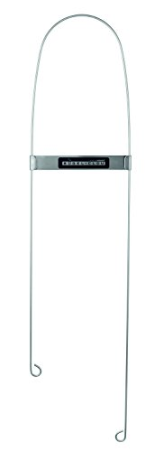 Bügel-Clou, die Erfindung fürs Bügeln aus dem TV: Weniger geht nicht und mehr braucht man nicht für knitterfreie Ärmel und Hosen, ersetzt Ärmelbrett, Edelstahl, mit Magnet, 60 x 14cm